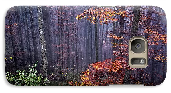 Galaxy Case featuring the photograph Fog And Forest Colours by Elena Elisseeva