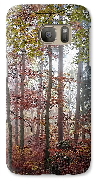 Galaxy Case featuring the photograph Fog In Autumn Forest by Elena Elisseeva