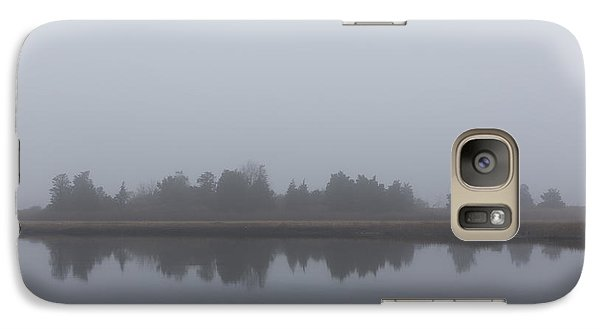 Galaxy Case featuring the photograph Fog On The Marsh by Andrew Pacheco