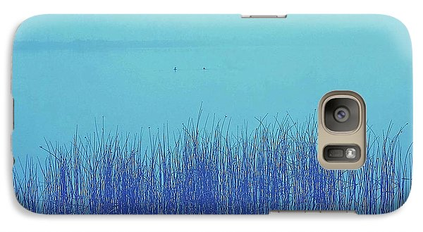 Galaxy Case featuring the photograph Fog Reeds by Laurie Stewart