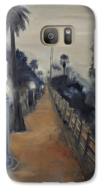 Galaxy Case featuring the painting Foggy Day On Ocean Ave by Lindsay Frost