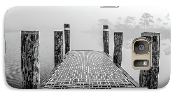 Galaxy Case featuring the photograph Foggy Dock In Alabama  by John McGraw