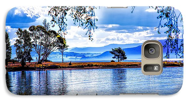 Galaxy Case featuring the photograph Foggy Hills And Lakes by Rick Bragan