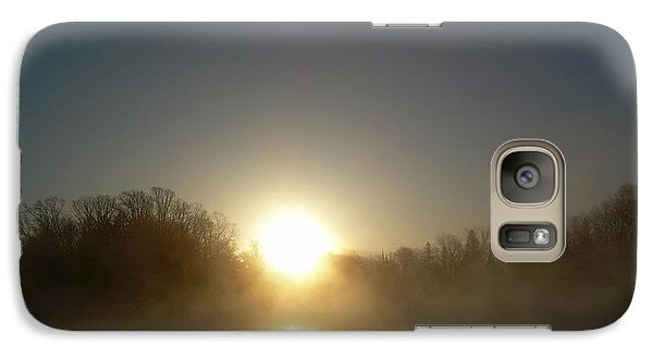 Galaxy Case featuring the photograph Foggy Mississippi River Sunrise by Kent Lorentzen