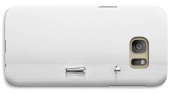 Galaxy Case featuring the photograph Foggy Mooring by Richard Bean