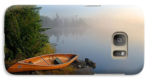 Landscapes Galaxy S7 Case - Foggy Morning On Spice Lake by Larry Ricker
