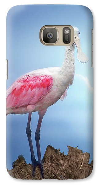 Foggy Morning Spoonbill Galaxy S7 Case