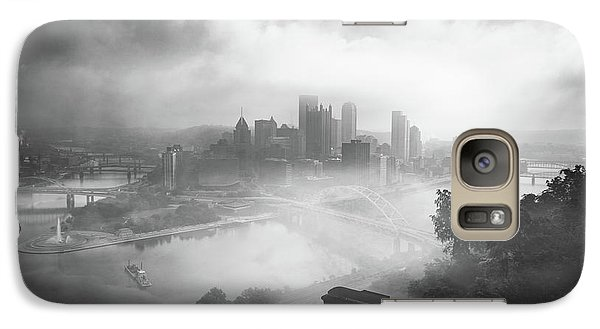Galaxy Case featuring the photograph Foggy Pittsburgh  by Emmanuel Panagiotakis