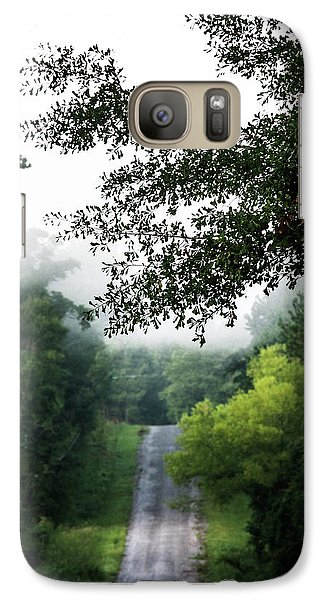 Galaxy Case featuring the photograph Foggy Road To Eternity  by Shelby Young