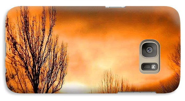Galaxy Case featuring the photograph Foggy Sunrise by Sumoflam Photography