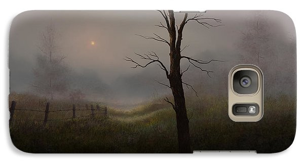 Galaxy Case featuring the painting Foggy Woods by Sena Wilson