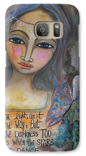 Galaxy Case featuring the painting Follow The Light by Prerna Poojara