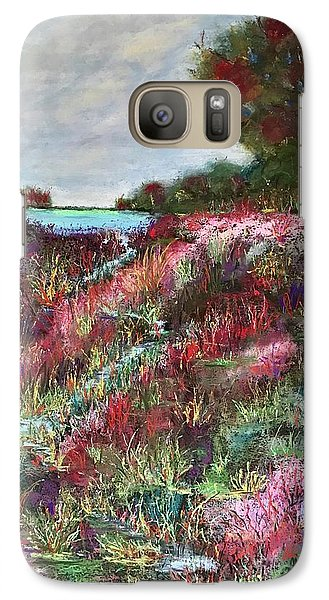 Galaxy Case featuring the pastel Follow The Whispers by Vickie Scarlett-Fisher