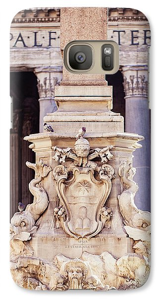 Galaxy Case featuring the photograph Fontana Del Pantheon - Pantheon Fountain II by Melanie Alexandra Price