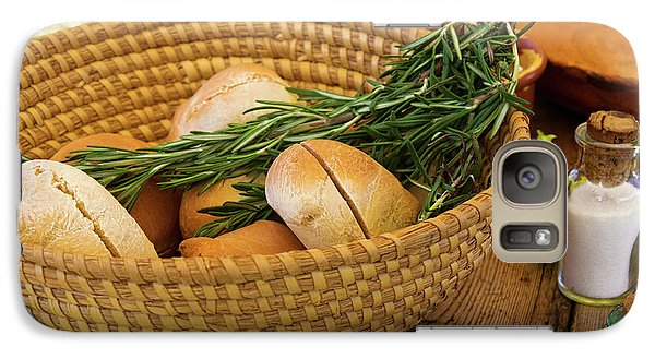 Galaxy Case featuring the photograph Food - Bread - Rolls And Rosemary by Mike Savad