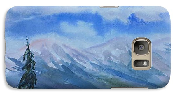 Galaxy Case featuring the painting Foothills by Anna  Duyunova