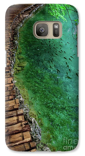 Footpaths And Fish - Plitvice Lakes National Park, Croatia Galaxy S7 Case