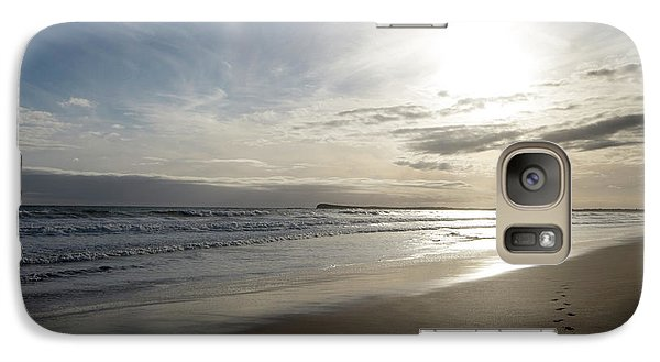 Galaxy Case featuring the photograph Footprints In The Sand by Linda Lees