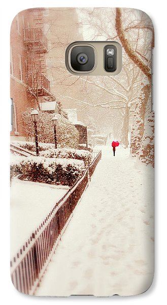 Galaxy Case featuring the photograph The Red Umbrella by Jessica Jenney