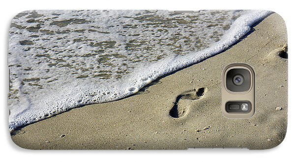 Galaxy Case featuring the photograph Footprints On The Beach by Robb Stan