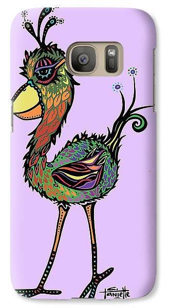 Galaxy Case featuring the drawing For The Birds by Tanielle Childers