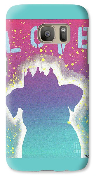 Galaxy Case featuring the painting For The Love Of Pups by Melissa Goodrich