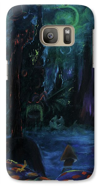 Galaxy Case featuring the painting Forbidden Forest by Christophe Ennis