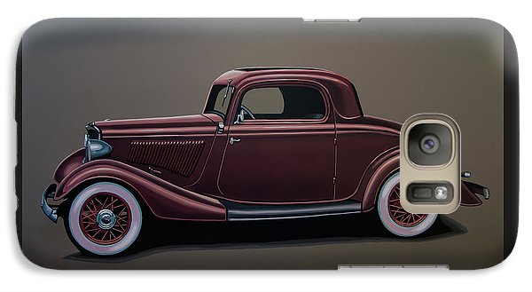 Falcon Galaxy S7 Case - Ford 3 Window Coupe 1933 Painting by Paul Meijering
