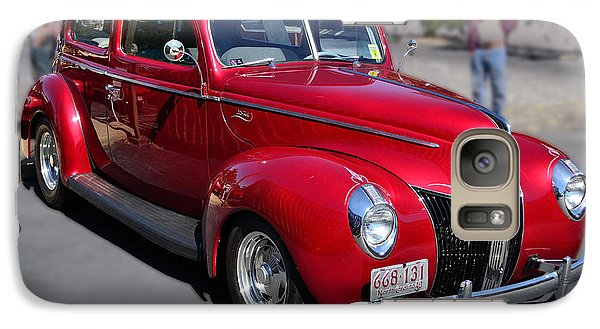 Galaxy Case featuring the photograph Ford 40 In Red by Larry Bishop