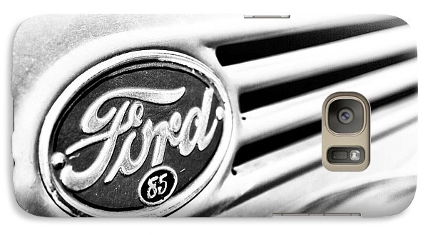 Galaxy Case featuring the photograph Ford 85 In Black And White by Caitlyn Grasso