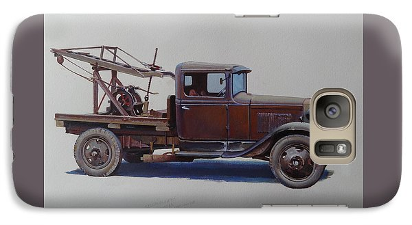 Galaxy Case featuring the painting Ford A Type Wrecker. by Mike  Jeffries
