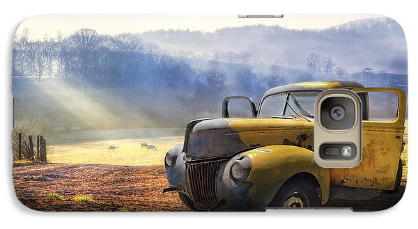 Car Galaxy S7 Case - Ford In The Fog by Debra and Dave Vanderlaan