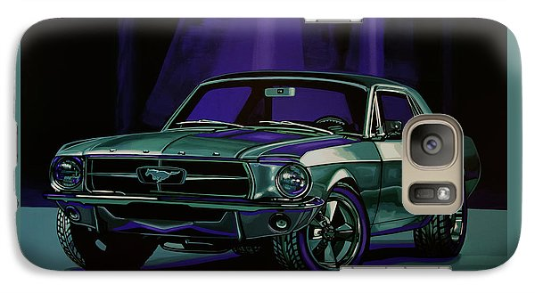 Falcon Galaxy S7 Case - Ford Mustang 1967 Painting by Paul Meijering