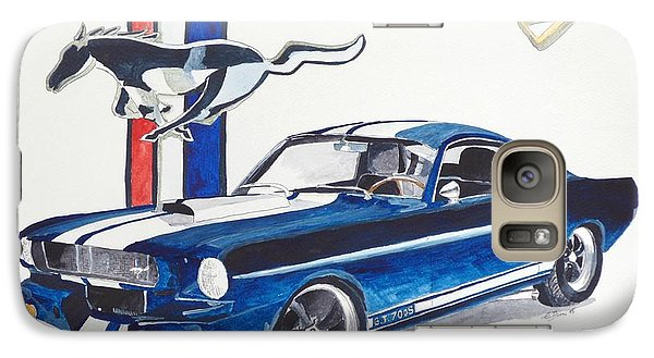 Galaxy Case featuring the painting Ford Mustang by Eva Ason
