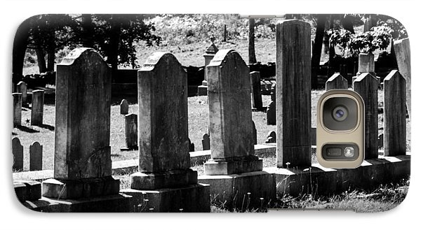 Galaxy Case featuring the photograph Foreside Cemetery 2 by Dick Botkin
