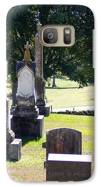Galaxy Case featuring the photograph Foreside Cemetery 3 by Dick Botkin
