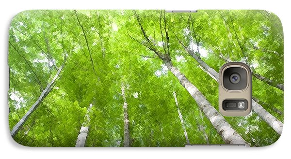 Galaxy Case featuring the photograph Forest 1 by Jean Bernard Roussilhe