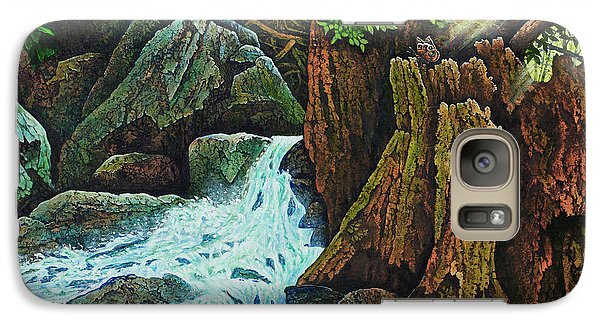 Galaxy Case featuring the painting Forest Brook IIi by Michael Frank