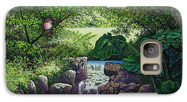 Galaxy Case featuring the painting Forest Brook Iv by Michael Frank