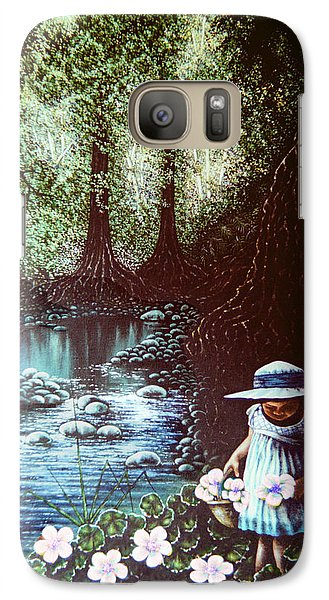 Galaxy Case featuring the painting Forest Flower by Michael Frank