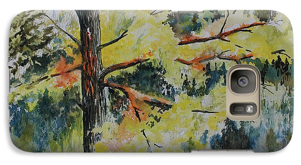 Galaxy Case featuring the painting Forest Giant by Joanne Smoley