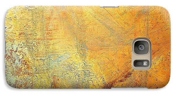 Galaxy Case featuring the mixed media Forest Gold by Michael Rock