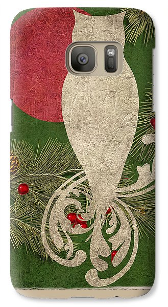 Forest Holiday Christmas Owl Galaxy S7 Case