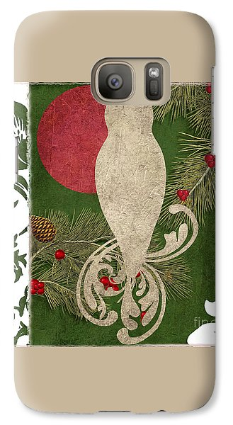 Forest Holiday Christmas Owl Galaxy S7 Case by Mindy Sommers