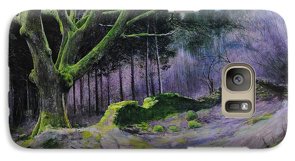 Galaxy Case featuring the painting Forest In Wales by Harry Robertson