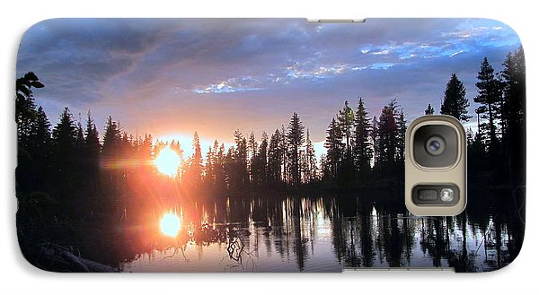 Galaxy Case featuring the photograph Forest Lake Sunset  by Irina Hays