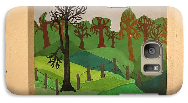 Galaxy Case featuring the painting Forest Moderna by Erika Chamberlin