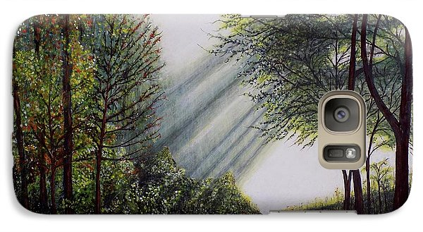 Galaxy Case featuring the painting Forest Pathway by Judy Kirouac