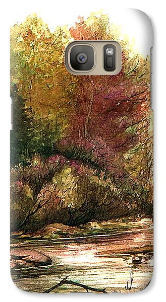 Galaxy Case featuring the painting Forest Puddle by Mikhail Savchenko