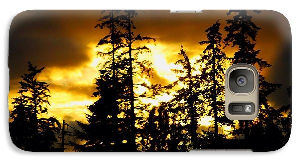 Galaxy Case featuring the photograph Forest Sunset  by Nick Gustafson